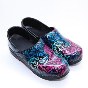 Dansko Clogs Floral Colorful Pattern Size 9.5